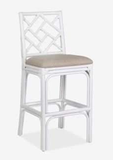(SP) Hampton Chippendale Barstool - White