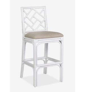 Hampton Chippendale Barstool - White