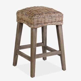 Rattan Driftwood Grey Counterstool - K/D (min qty: 2 pc)..(16X16X26)
