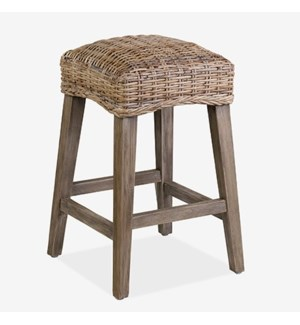 Leigh RattanCounterstool - K/D MOQ 2 (package: 2pcs/box) price is per piece(16X16X26)