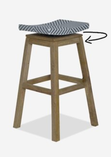 (LS) Swivel Barstool with Grey/White Synthetic Wicker..(17x17x29.5)......
