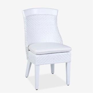 (LS) Rhodes Dining Chair - White MOQ 2 (22X26X37)