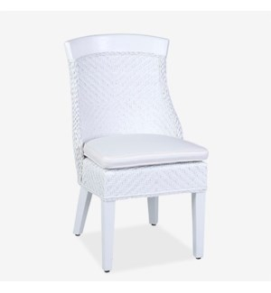 (LS) Rhodes Dining Chair - White MOQ 2 (22X26X37) (package: 2pcs/box) price is per piece