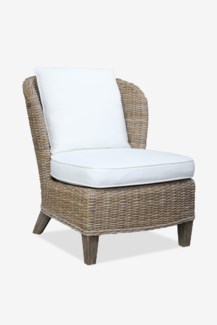(SP) Ellis Kubu Grey Rattan Club Chair with Cushion ..(28x33x33)