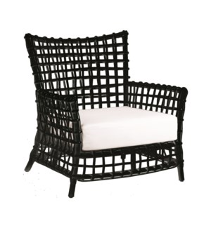 Bahama Occasional Arm Chair-Black