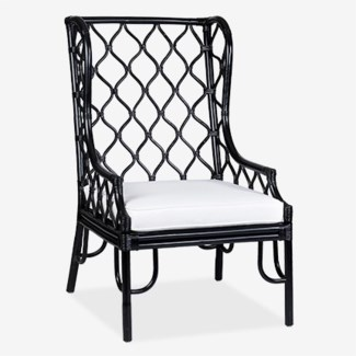 (SP) Ambrose Wing Chair - Black