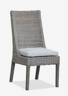 (LS) Eliza Kubu Grey Rattan Dining Side Chair  MOQ 2 (20x25x41)..