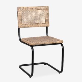 Soho Side Chair - Rattan Grey