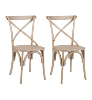 Lowry Dining Chairs (Set of 2) - Grey - (20X35X21) (package: 2pcs/box) priced per pair