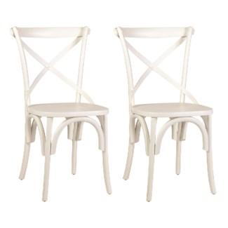 (SP) Lowry Dining Chair - White -MOQ 2 (20X35X21)