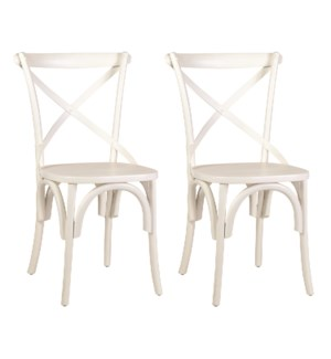 Lowry Dining Chairs (Set of 2) - White - (20X35X21) (package: 2pcs/box) priced per pair