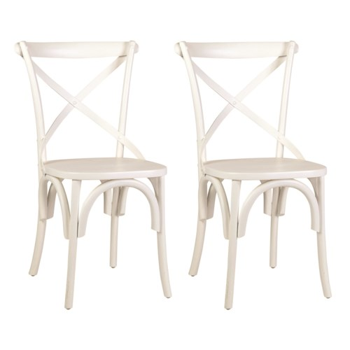 Lowry Dining Chair - White -MOQ 2 (20X35X21) (package: 2pcs/box) price is per piece