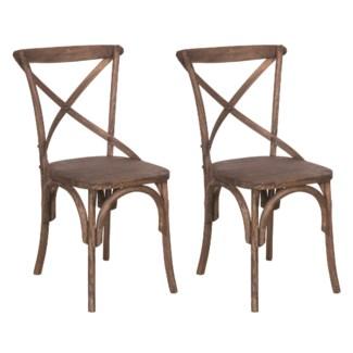 Lowry Dining Chair - Antique Brown-  MOQ 2 (20X35X21)