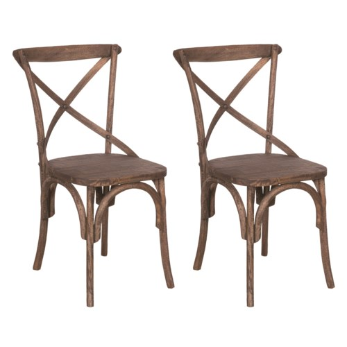 Lowry Dining Chair - Antique Brown-  MOQ 2 (20X35X21) (package: 2pcs/box) price is per piece