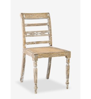 Raj Side Chair with Cane Seat MOQ 2 (19x17x33) (package: 2pcs/box) price is per piece