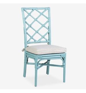 Pembroke Rattan Side Chair - sky blue -  MOQ 2 (package: 2pcs/box) price is per piece