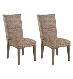 Leigh Dining Chairs (Set of 2) - K/D (packaged 2 pcs per box/priced per pair(20X26X40)