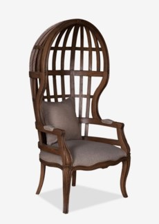 (SP) Grand Porter Arm Chair With Exposed  Wood Frame (26X24X26)