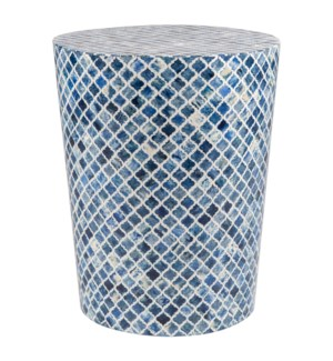 Tabla Round Stool, Blue (21.5x21.5x27.5)