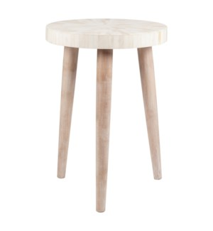 Pestle Round Table, White