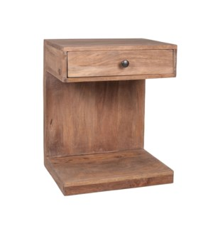 Daria One Drawer Mango Wood Accent Table