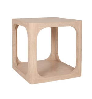 "Archie 22"" Side Table, Beech Finish"