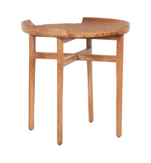 Gracie Cane Accent Table, Mango