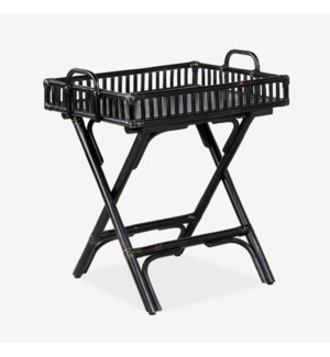Wren Rattan folding Side Table, Black