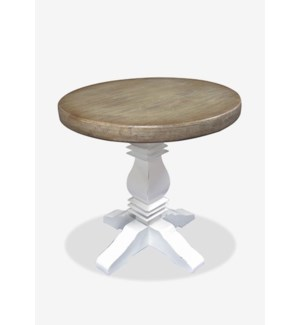 "(LS) Griffen 25.5"" Two-Toned Bistro Table..(25.5x25.5x26)..Material/Color: Mahogany/Top:Vintage Grey"