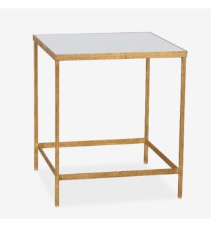 Reeves Square Iron Side Table, Bronze