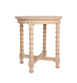 "Alistair 22"" Round Accent Table, Natural"