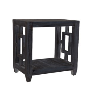 Madison Rectangular Side Table, Black Wash