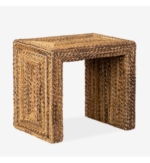 Soren Braided Seagrass Side Table, Natural