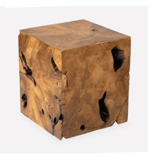 Burl Organic Side Table (18x18x20)