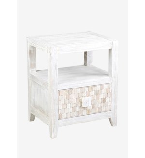 Fulton Side Table with 1 Drawer (20x16x24)