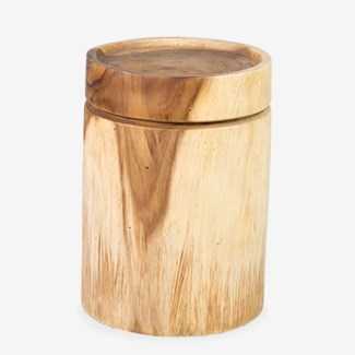 (SP) Pendulum Side Table In Natural Finish (12.5x12.5x18)