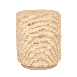 Surfside round ottoman/ table - natural (15.7x15.7x18.5)