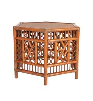 "Octagon Accent table (28""x24""x20.5"") - antique brown"