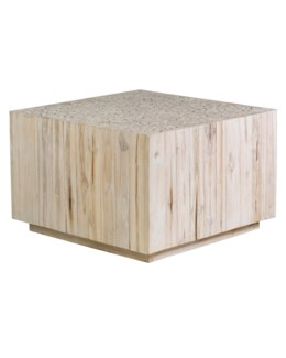 Augusta Square Coffee Table - White Wash
