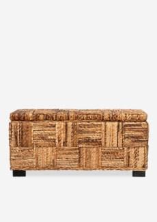 Marina Abaca Double Bench w/ storage (39x14x18)