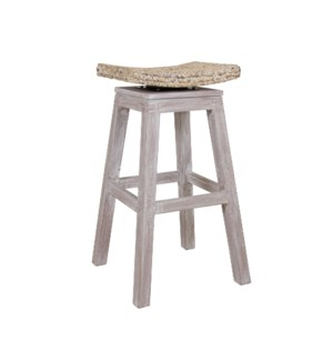 Sanibel Barstool - White Wash (17.7x17.7x29.5)