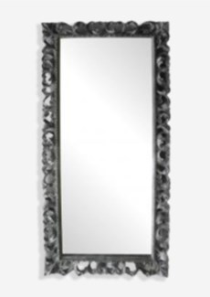 (LS) Bali Grey Wooden Mirror (79X2.4X39)