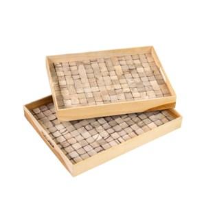 Ecotessa Coconut Trays (Set of 2) - Natural