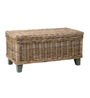 Seascape Driftwood Rattan Coffee Table With Storage