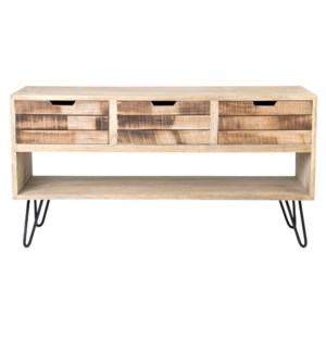 Brittany 4 Slat Front Drawers with Cubby Cabinet