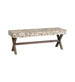 Bayside Bench with X-Base