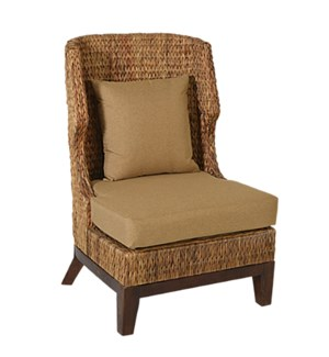 Patricia Woven Wing Back Chair