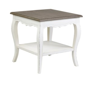 Ursuline Side Table with Shelf