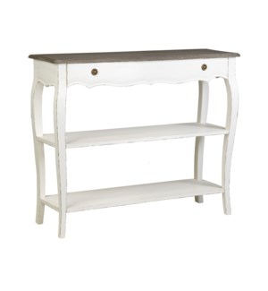 Ursuline Console Table with Two Shelves
