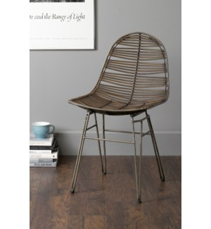 Clay Side Chair-Brown (20x22x35)